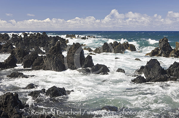 Keanae Point an der Strasse nach Hana, Maui, Hawaii, USA