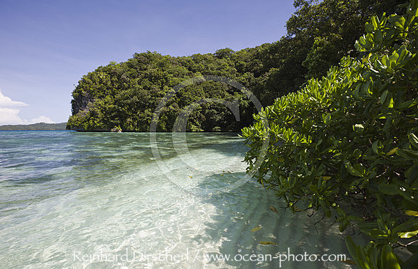 Strand in den Rock Islands, Mikronesien, Palau